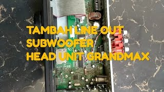 Download lagu Cara tambah line out / jack rca subwoofer head unit grandmax