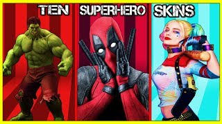 10 FORTNITE *SUPERHERO* SKINS WE ALL WANT In SEASON 4!