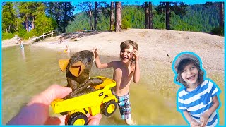 Toy Dump Truck Rescues Drowning Mouse
