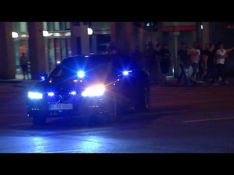 [Erstmalig] Gepanzerte Limousine BKA-Personenschutz in München
