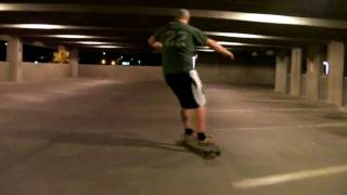 Parking Garage LongBoarding on his Dog Town in Tempe AZ
