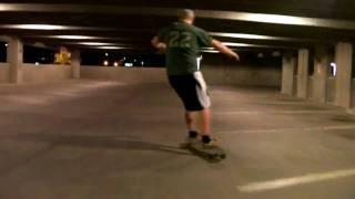 Parking Garage LongBoarding on his Dog Town in Tempe AZ