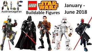 Lego Star Wars Buildable Figures First Half 2018 - Compilation of all Sets - Lego Speed Build Review