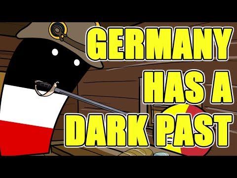 Germany has a dark past - Countryballs