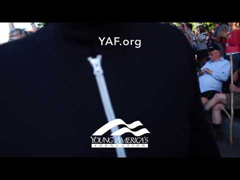 YAF EXCLUSIVE: Conservative Student Attacked For Wearing YAF Hat At Vigil For Charlottesville