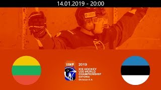 LTU Vs EST   2019   HF WM20  A   Tallin Estonia – 14.01.2019