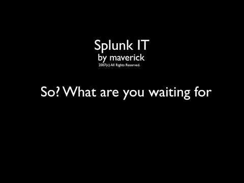 Splunk IT (original nerdcore rap, karaoke style)