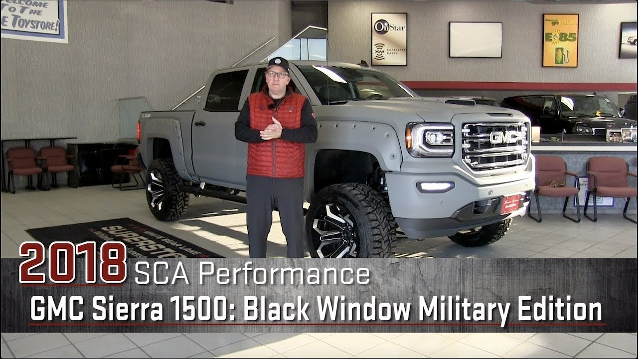 New 2018 Sca Black Widow Military Edition Gmc Sierra 1500 Lifted