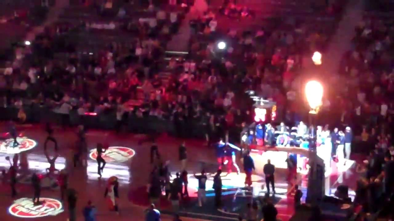 Detroit Pistons Starting Lineup intro ...