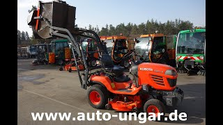 Youtube-Video Kubota G23 HD Twin Cut  Hochentleerung Diesel 22PS
