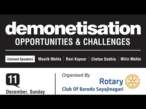 Mr. Milin Mehta @ Demonetisation: Opportunities and Challenges - Part Four