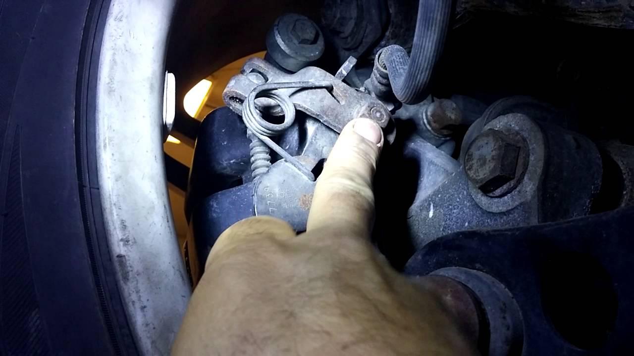 medium resolution of 2016 09 26 vw audi parking brake caliper seized hand brake