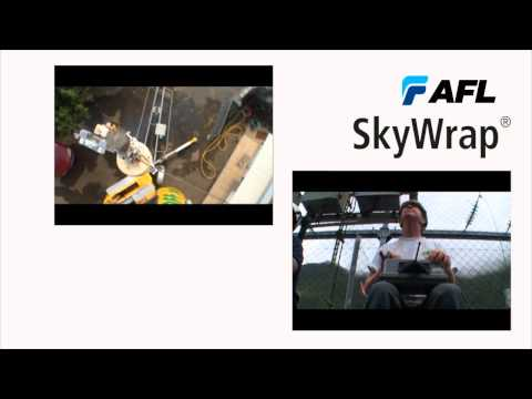 AFL SkyWrap® is a fiber optic cable helically applied on ground wires or phase conductors