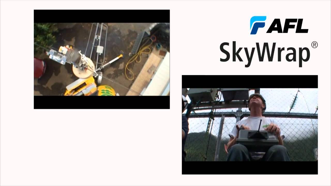 AFL SkyWrap® is a fiber optic cable helically applied on ground ...