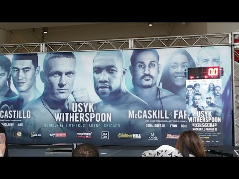 LIVE! USYK VS WITHERSPOON WEIGH-INS FROM CHICAGO!