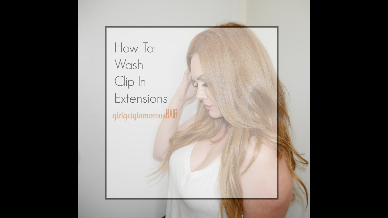 How to wash clip in human hair extensions ggghair youtube pmusecretfo Gallery