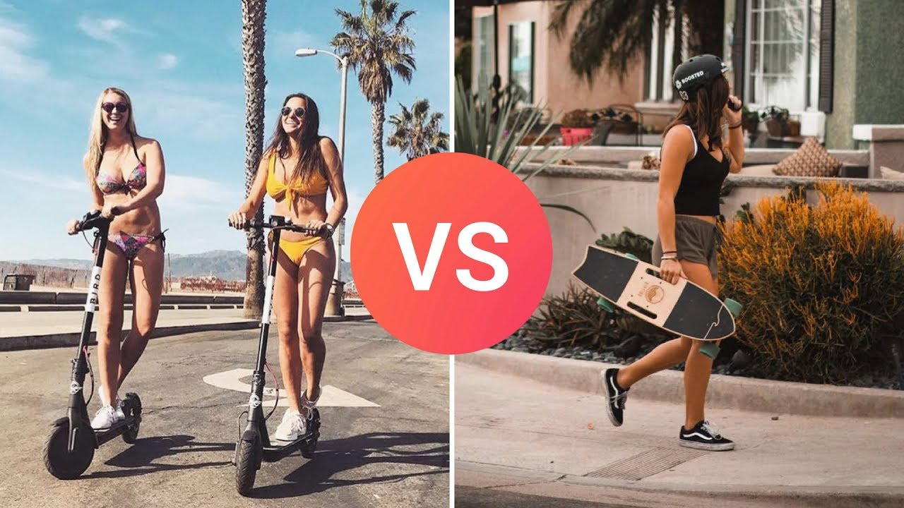 Electric Scooter vs Electric Skateboard  Which is Best?  YouTube