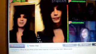 "Andy Six and Jake Pitts on Stickam 9-5-10 Pt.10 ""Eat cheese, not nails"""