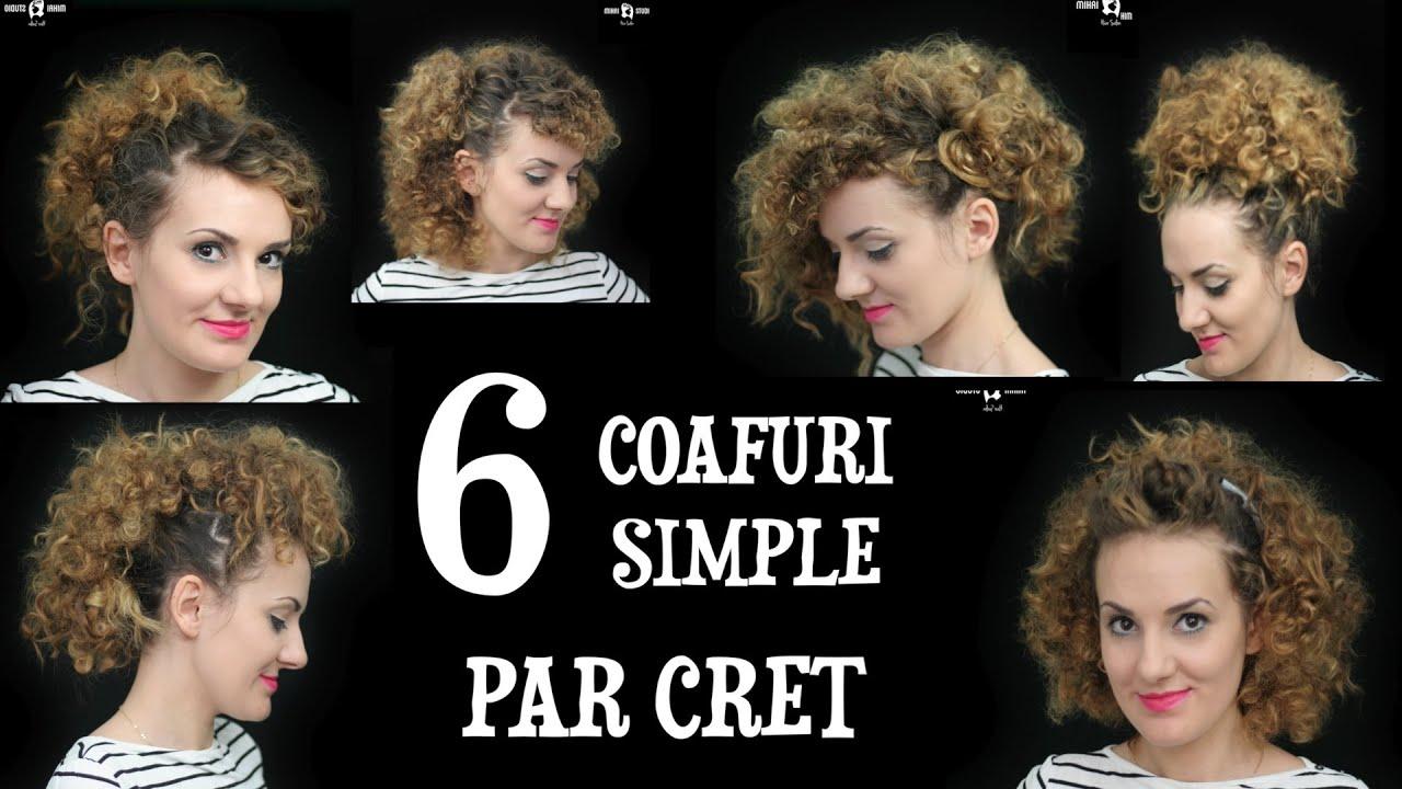 6 Coafuri Simple Par Cret Tutorial 006 Anca Te Invata Youtube