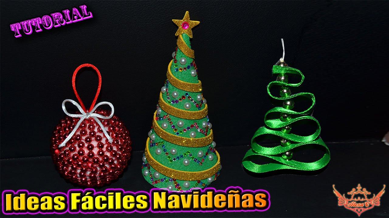 ♥ Tutorial: Ideas fáciles de Navidad ♥ - YouTube