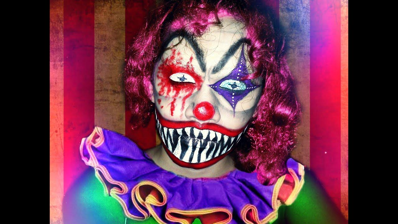 Halloween 2013 : Evil Clown | Makeup Tutorial - YouTube
