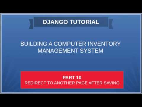 DJANGO - 10 COMPUTER INVENTORY - Redirect to another page after saving