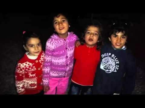 """Greece-Mar. 11, 2016: Refugee Children Saying """"I Love You"""" on Chios"""