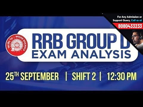 RRB Group D 2018 Exam Analysis | 25th September Shift 2 | Exam Review + Questions Asked