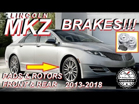 Lincoln MKZ Brake Pads & Rotors 2013-2018 How To Change, Replace & Install Front & Rear Black Label