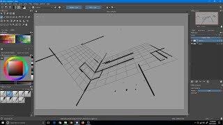 krita Assistant Tool  Part 2 : Spline, Ellipse , Concentric Ellipse and Perspective