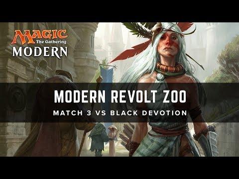[MTG] Modern Revolt Zoo | Match 3 VS Black Devotion