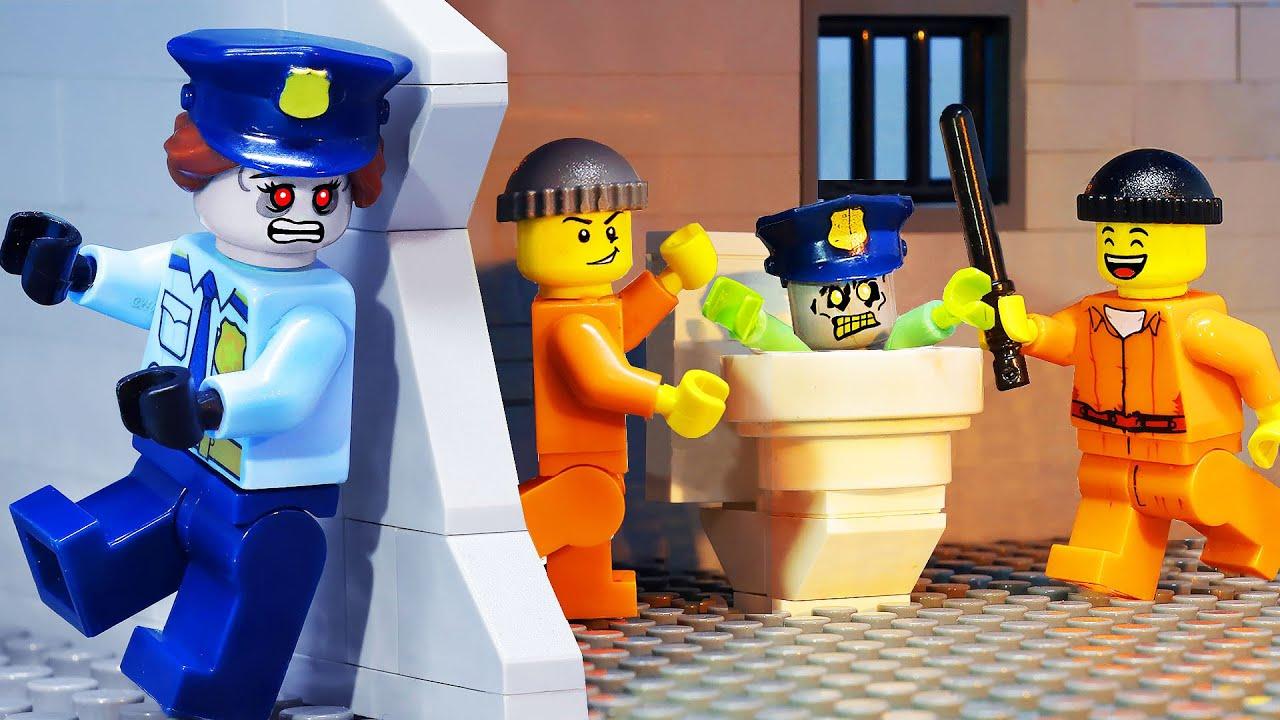 Survive Prison ZOMBIE Outbreak | Lego City Prison Break