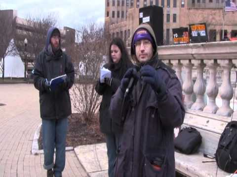 Occupy Buffalo - General Assembly In Niagara Square (Unedited) (2012-01-07): Part 1