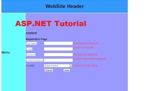 ASP.NET Tutorial 8- Create a Login website-Creating Master Page and apply it to existing aspx pages