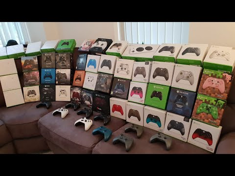 Коллекционер собрал все фирменные геймпады Xbox One
