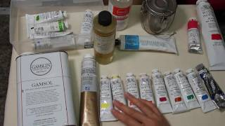 Intro to Oil Painting - Supplies & Materials Part 1