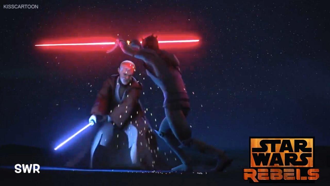 Star Wars Rebels Obi Wan Vs Maul Youtube