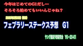 【ヤング競馬予想研究会】#01フェブラリーステークス予想