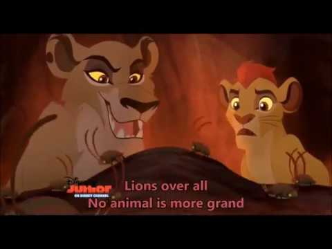 The Lion Guard - Lions over all (Zira and Kion's song) with lyrics