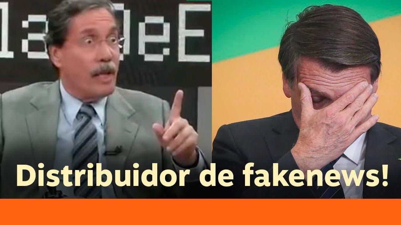 Bolsonaro diz que jornalista da Globo recebeu 375 mil por palestra no Senac
