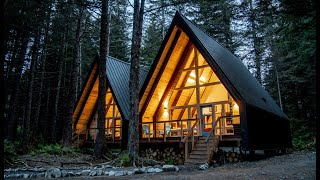 Remote Alaska A-frame Cabin Tour - Two Bedroom Space Saving Design