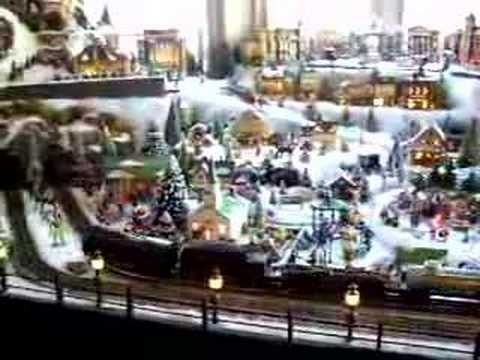 Dad S Dept 56 Holiday And Train Display Youtube