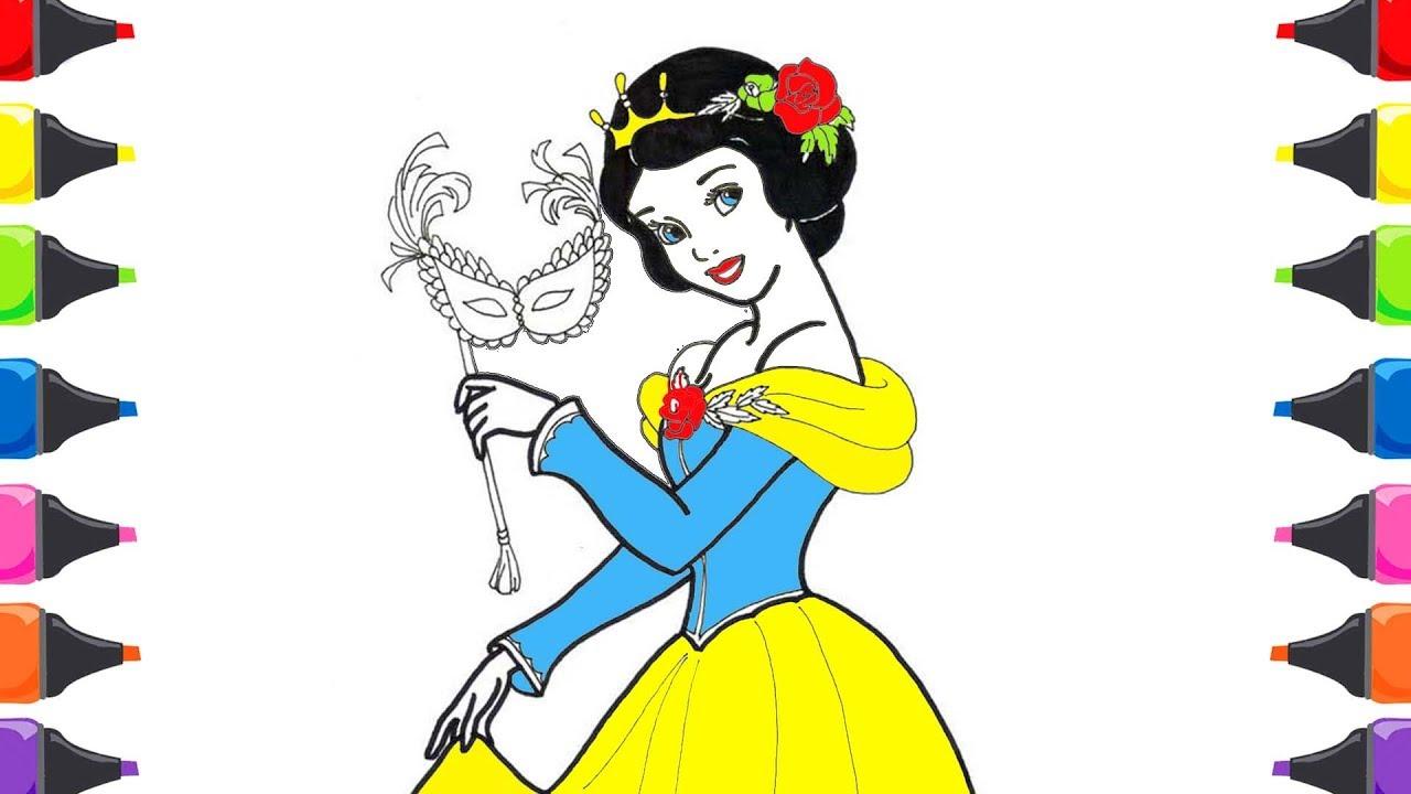 Pamuk Prenses Ve Yedi Cüceler Masalı Boyama Renkleri öğreniyorum