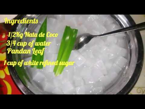 Homemade Nata de Coco in Syrup