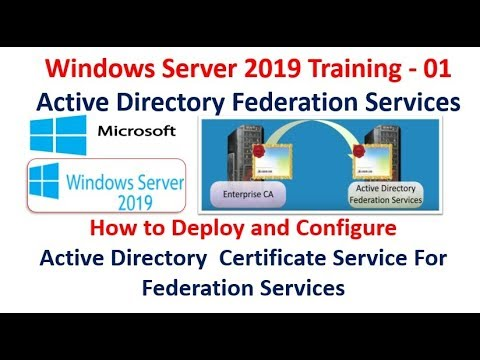Server 2019 Training - 01 How to Install & Configure Active Directory  Service For ADFS