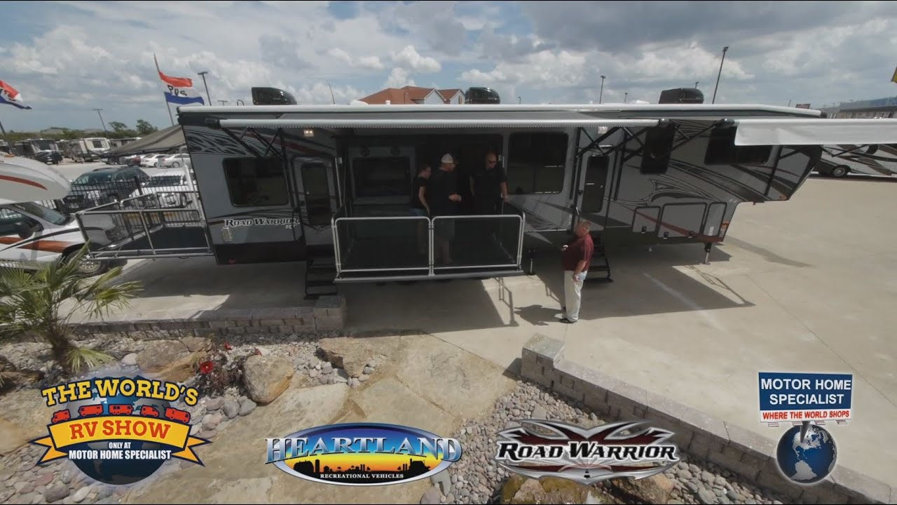 Heartland 5th Wheel Floor Plans Road Warrior Luxury Crossover Toy Hauler Rv Review At
