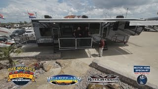 Road Warrior Luxury Crossover Toy Hauler RV Review at MHSRV.com RW420 425 410 390 355(, 2014-12-24T01:30:22.000Z)