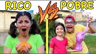 RICO VS POBRE FAZENDO AMOEBA / SLIME #6 - Anny e Eu