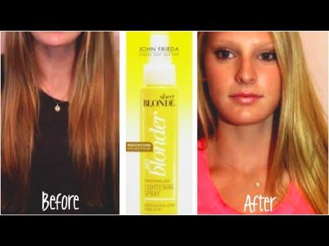 John Frieda Hair Lightening Spray Before Amp After Youtube