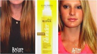John Frieda Hair Lightening Spray! Before & After Thumbnail